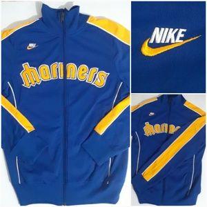 Vtg Nike Seattle Mariners Track Jacket Men's Small